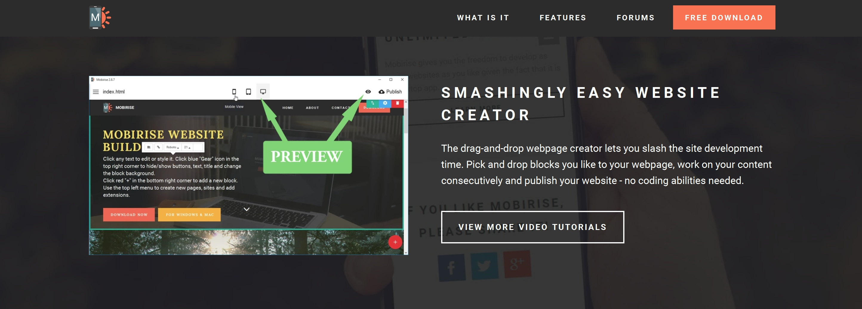 Simple Drag and Drop Web Page  Builder Software