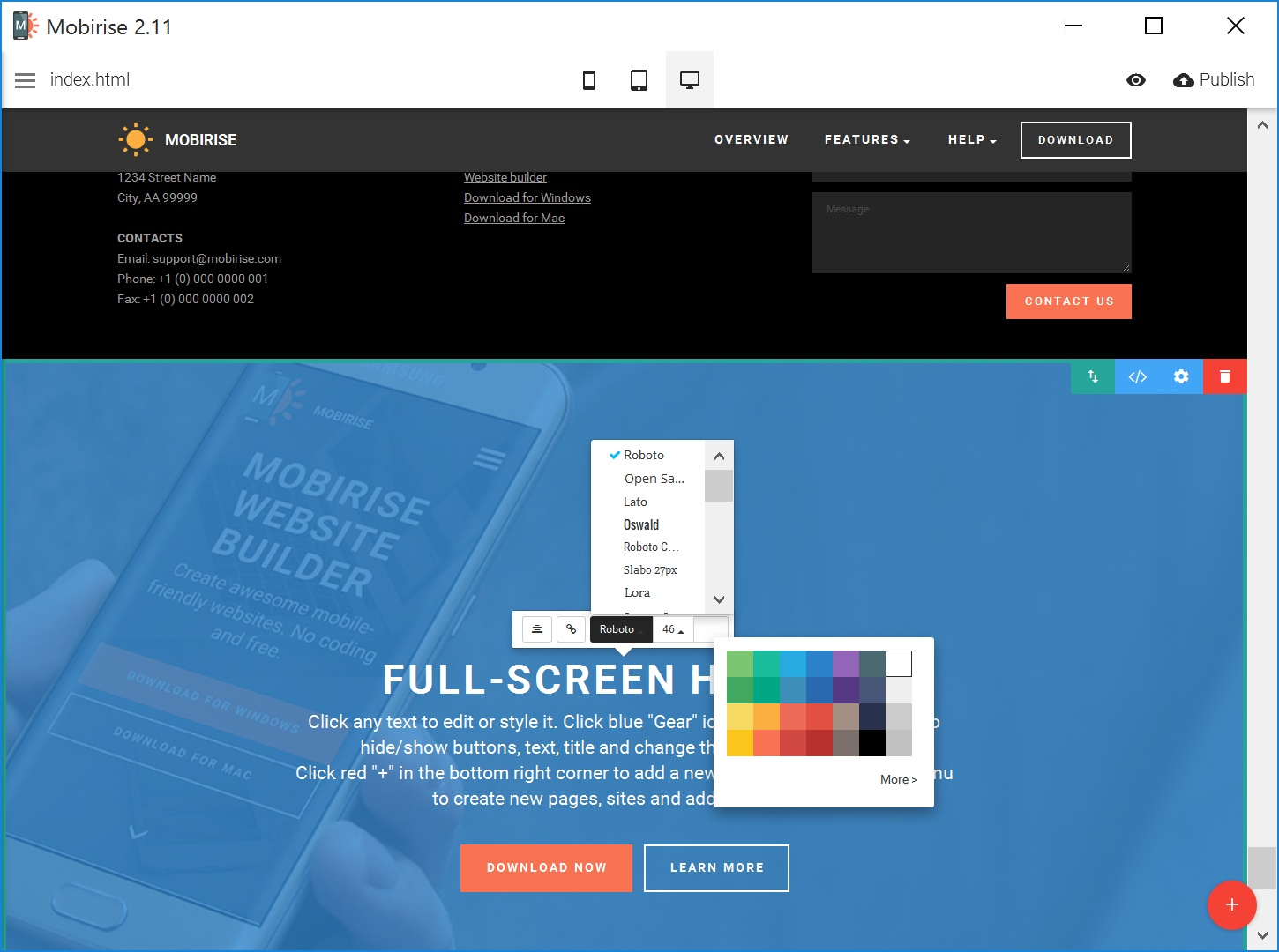 Best HTML5 Web Page  Creator Review