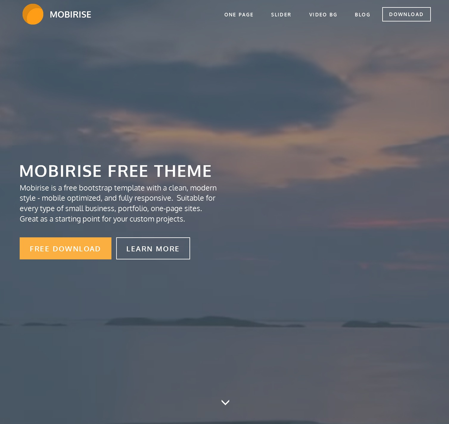HTML5 Bootstrap Single Page Theme